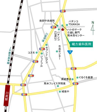 緒方歯科医院 〒861-4106 熊本県熊本市南高江6-4-3